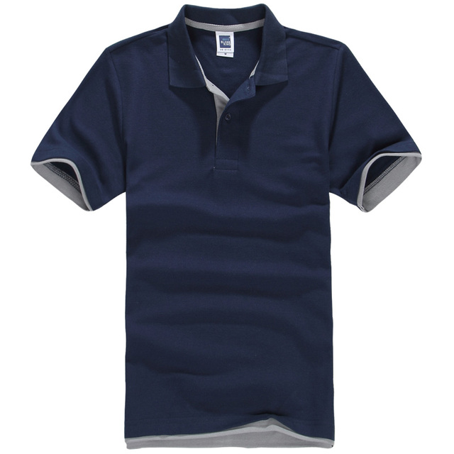 2017 hombres y mujeres de color doble camisa de manga corta polo camisa de algodón de la perla marca de ropa camisas de polo blanco