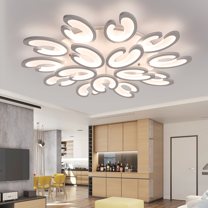 Modern wrought iron acrylic interior lighting simple petals indoor lighting ceiling lights led ceiling light Surface mounted
