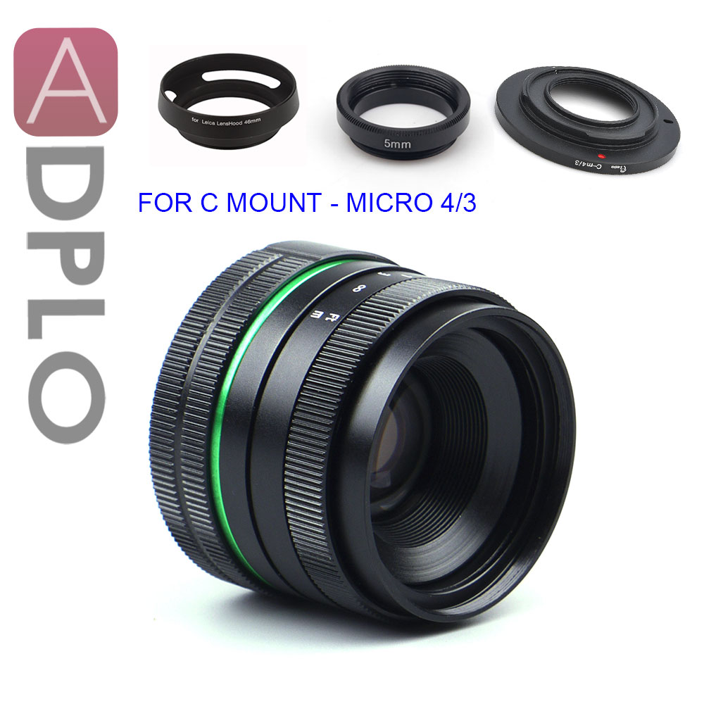 ADPLO 35mm f/1.6 APS-C Lens+3 GIFT SUIT for EOS M MICRO 4/3 FOR Nikon 1 Pentax Q Nex Fuji FX camera OM-DE-M10 II E-M5 IIE-M1 aps c cl mil7528n 7 5mm f2 8 fish eye wide angle lens suit for fujifilm fx nex micro 4 3 eos m with lens wrist strap