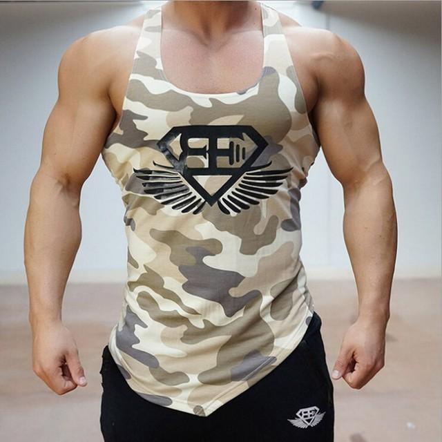 2016 llegaron al estadio shark gymshark tanque superior Aeróbicos Aptitud de los hombres de la camisa de La Camiseta de camuflaje chaleco Stringer Culturismo