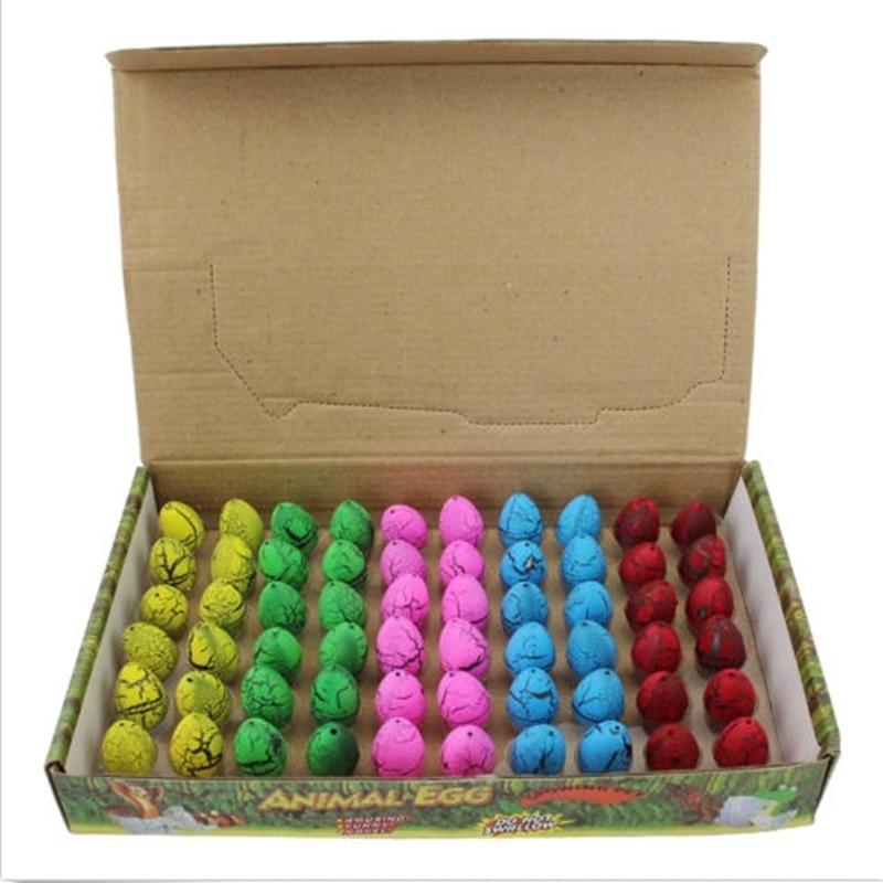60Pcs / Σετ εκκόλαψης Αυξανόμενα Mini Dinosaur Αυγά Παιχνίδι Νερό αυξάνεται για τα παιδιά Δώρο Magic Dinosaur αυγά Νεωτερισμός Gag Αστεία Toy