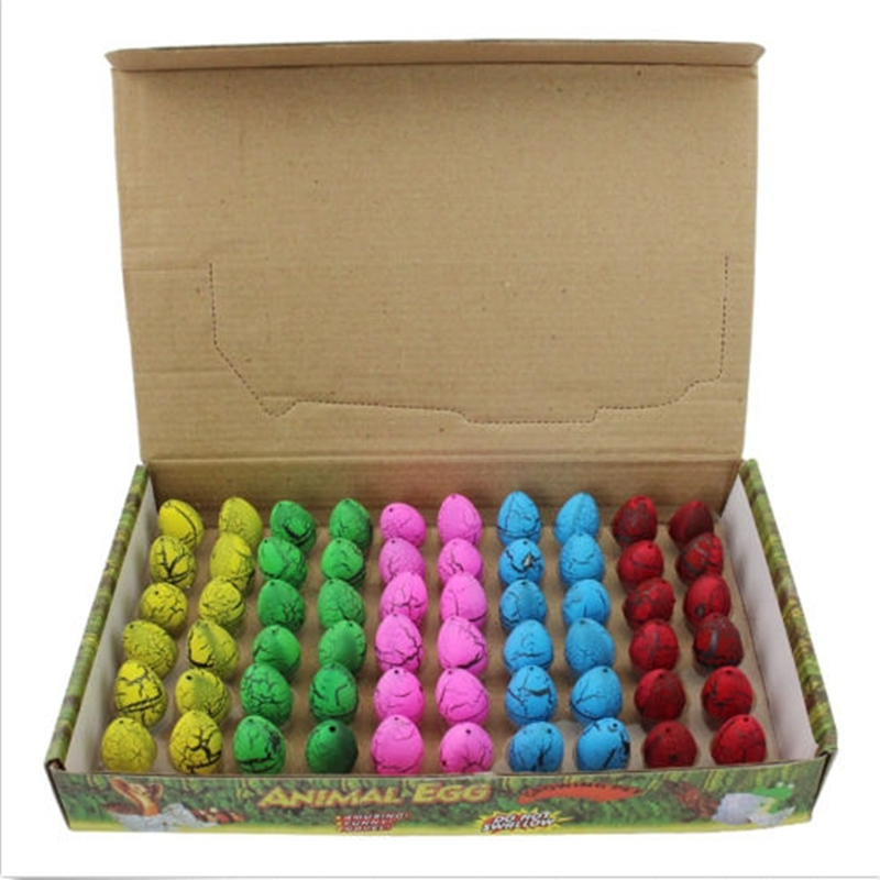 60Pcs/Set  Hatching Growing Mini Dinosaur Eggs Toy Water Grow for Kids Gift Magic Dinosaur Eggs Novelty Gag Toy Funny Toy