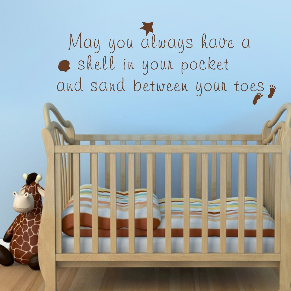 Aliexpresscom  Buy Beach Quote Wall Decal May You Always Have A - Wall decals beach quotes