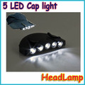 1pcs/lot  5LED Fishing Camping Head Light Bulb LAMP HeadLamp Cap Hat Hunt hunting
