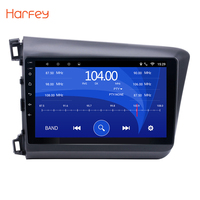 Harfey 10.1 inch Car Radio For Honda Civic 2012 2013 Bluetooth Android 8.1 GPS Multimedia Player 1024*600 Capacitive Screen