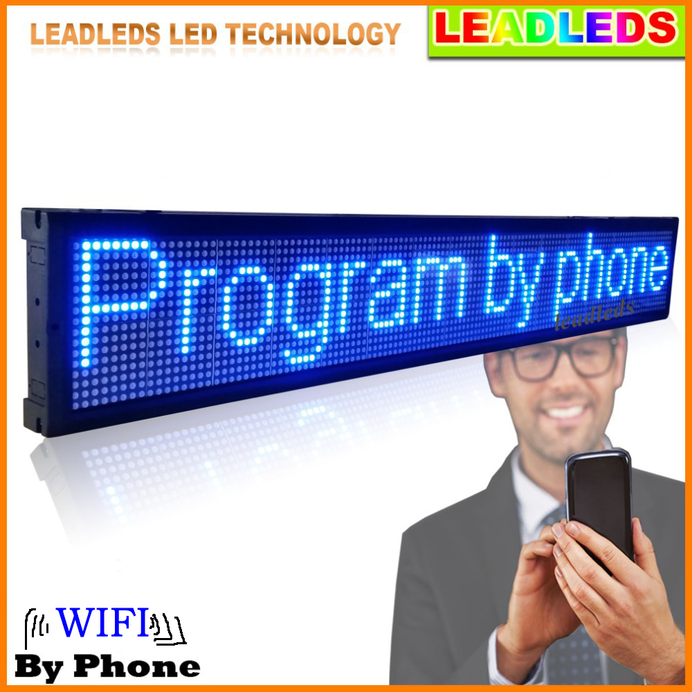 ultra brilho cor azul levou exibicao placa do sinal programavel levou a rolagem mensagem do programa
