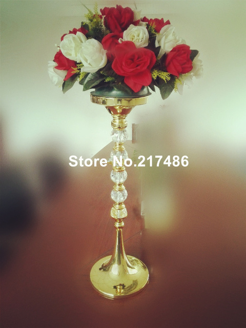 Elegant Slim Clear Acrylic Flower Vase Crystal Trumpet Vases