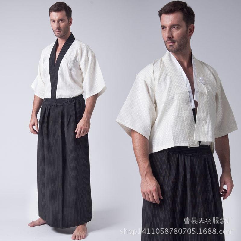 Men/'s Yukata Japanese Haori Kimono Robe Cosplay Costume one size Free shipping