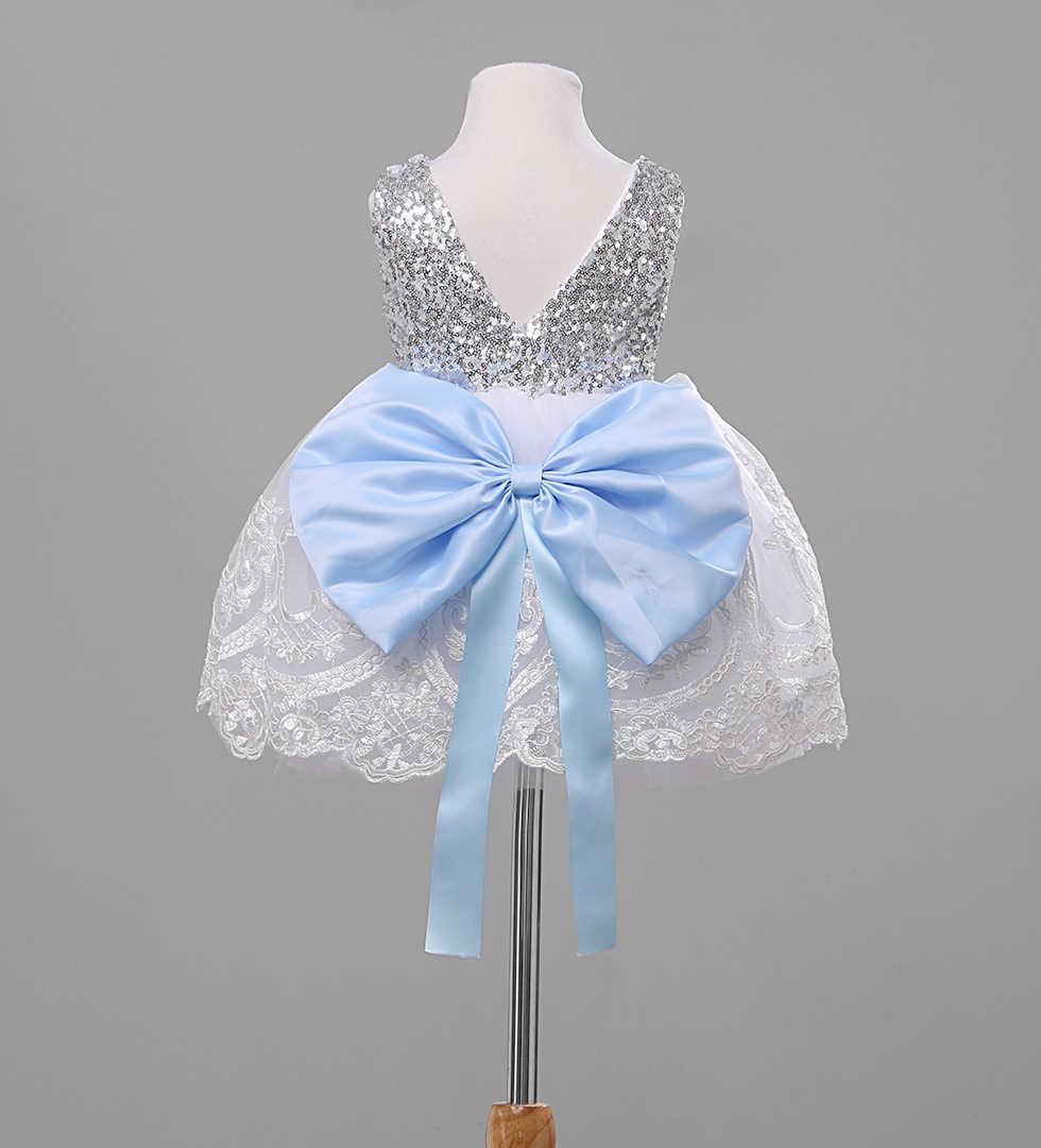 Pudcoco/2019 г. летнее Кружевное платье-пачка принцессы для маленьких девочек от 1 до 10 лет, кружевное платье с цветочным принтом и бантом для маленьких девочек праздничные платья на Рождество и свадьбу