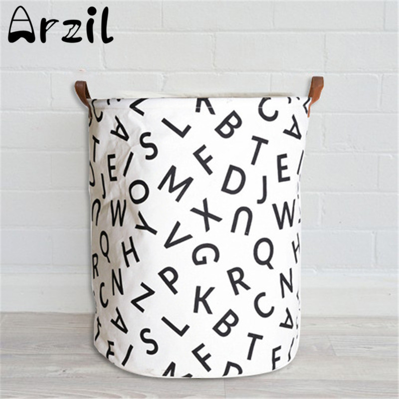Semicircle Grid Pattern Storage Bag Canvas Laundry Basket