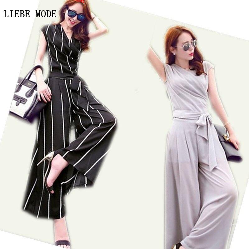 Short Sleeve Top+Wide Leg Pants Women's Dress Pant Suits ...