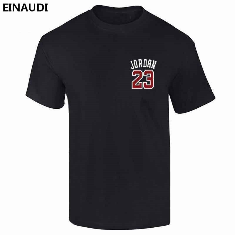 03e33c20d48fa4 EINAUDI 2017 New Brand Clothing Jordan 23 Men T-shirt Swag 100% Cotton Print