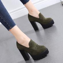 2018 New Autumn Girls High Heel Waterproof Platform Super High Heel Women's Shoes Fashion Thick Shoes