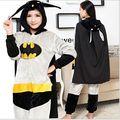 Venda quente Batman estilo Hoodies Flanela Animal Macacão Traje Cosplay Adulto Unisex Pijama animal SEEPWER pijama
