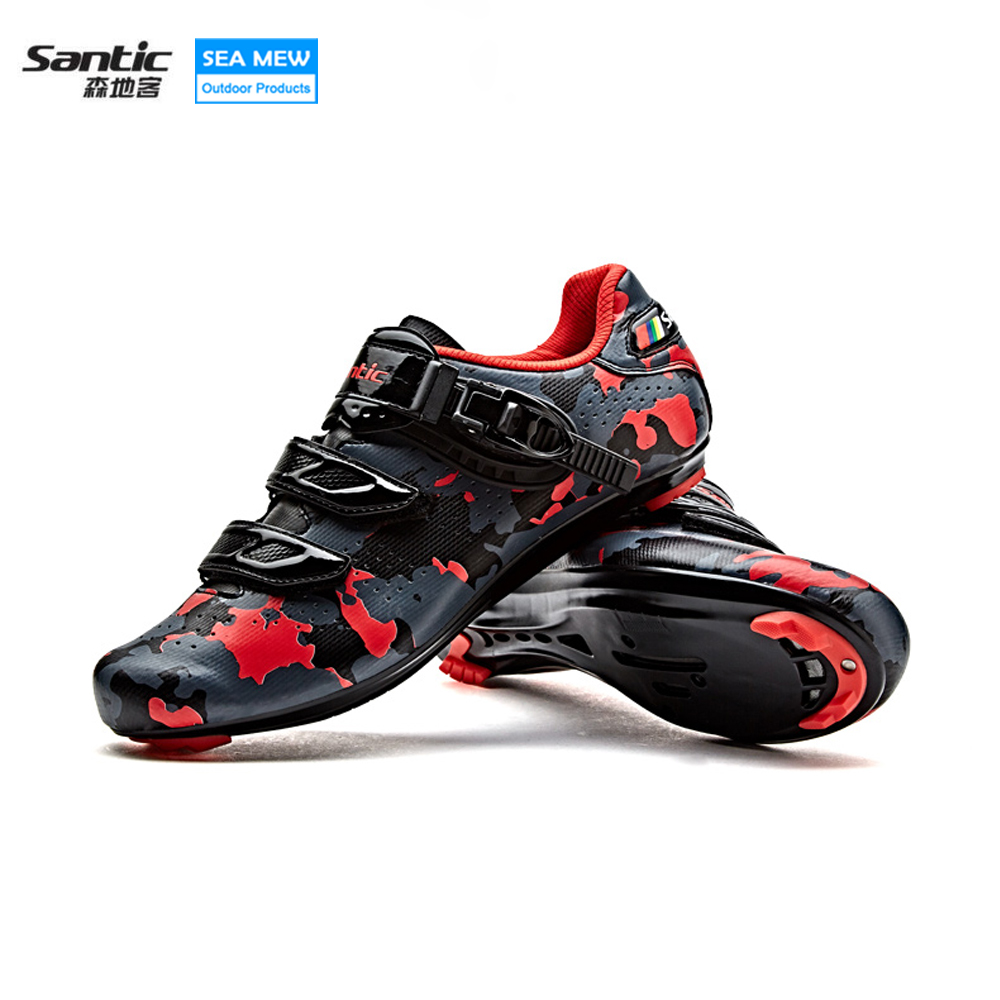 Santic New Design Cycling Shoes Men Outdoor Road Bike Shoes Self-locking Shoes Non-slip Bicycle Shoes Sapatos with 3 colors santic new design cycling shoes men outdoor road bike shoes self locking shoes non slip bicycle shoes sapatos with 3 colors