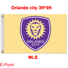 1 piece 144cm*96cm size MLS Orlando city Flying flag