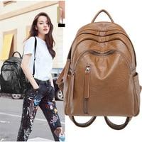 2023 a European Fashion Female multifunctional Shoulder Bag headset Backpacks Travel Bag Women Genuine Leather Backpack