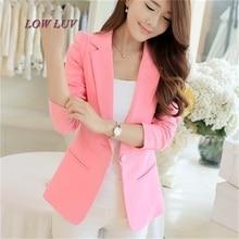 Hot Selling Fashion Elegant Business Formal Office Suits Wear Women Long Sleeve Pink/Black/White Blazer Suit Jacket XXL