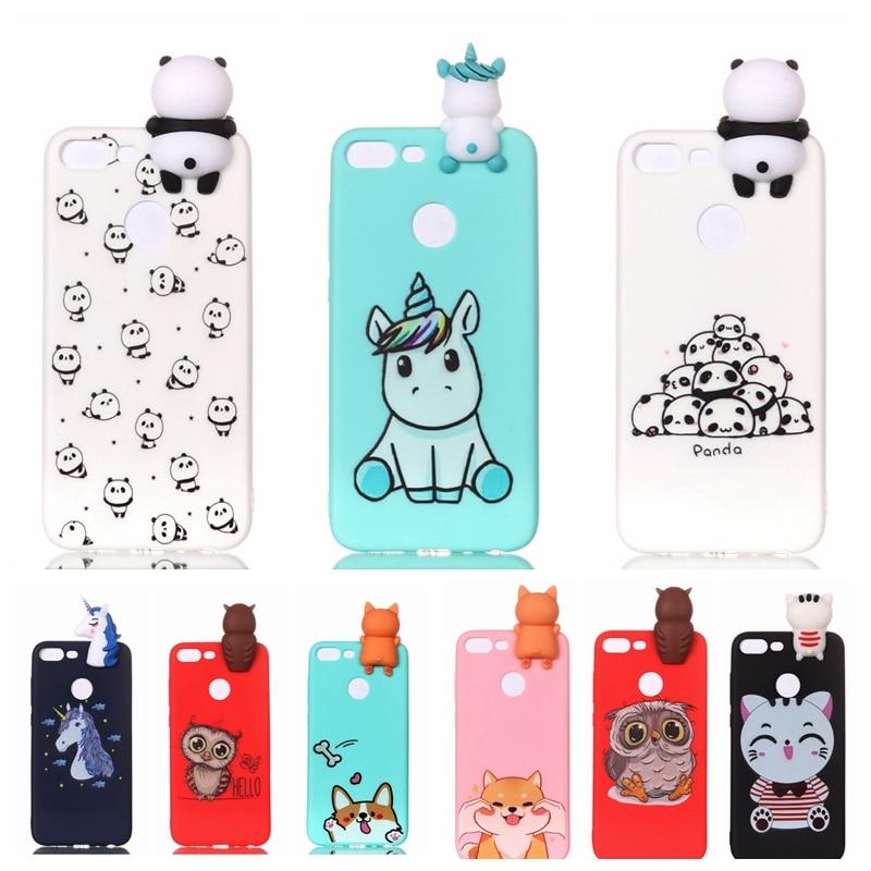 Honor 9 Lite Case Cartoon 3D Unicorn Panda Silicone Case Cover On For Funda Huawei Honor 9 Lite Cute Cat Dog Phone Case Pouzdro