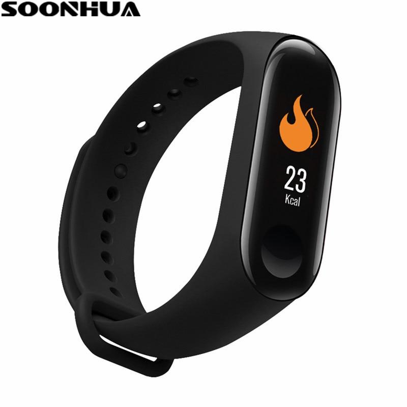 SOONHUA M3PLUS Smart Armband Herz Rate Blutdruck Blut Sauerstoff Schlaf Monitor Anruf Erinnerung Fitness Tracker Smart Armband