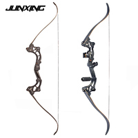 30 55 lbs Black Recurve bow of 64 inches IBO Speed 175 fps for Archery and Hunting with Arrow Rest Free Shipping
