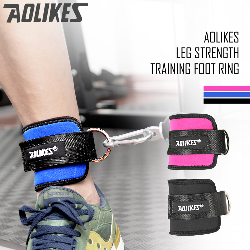 AOLIKES official Gym Weight Lifting Leg Strength Recovery Training Ankle Support Protector  Adjustable Ankle Guard Protector