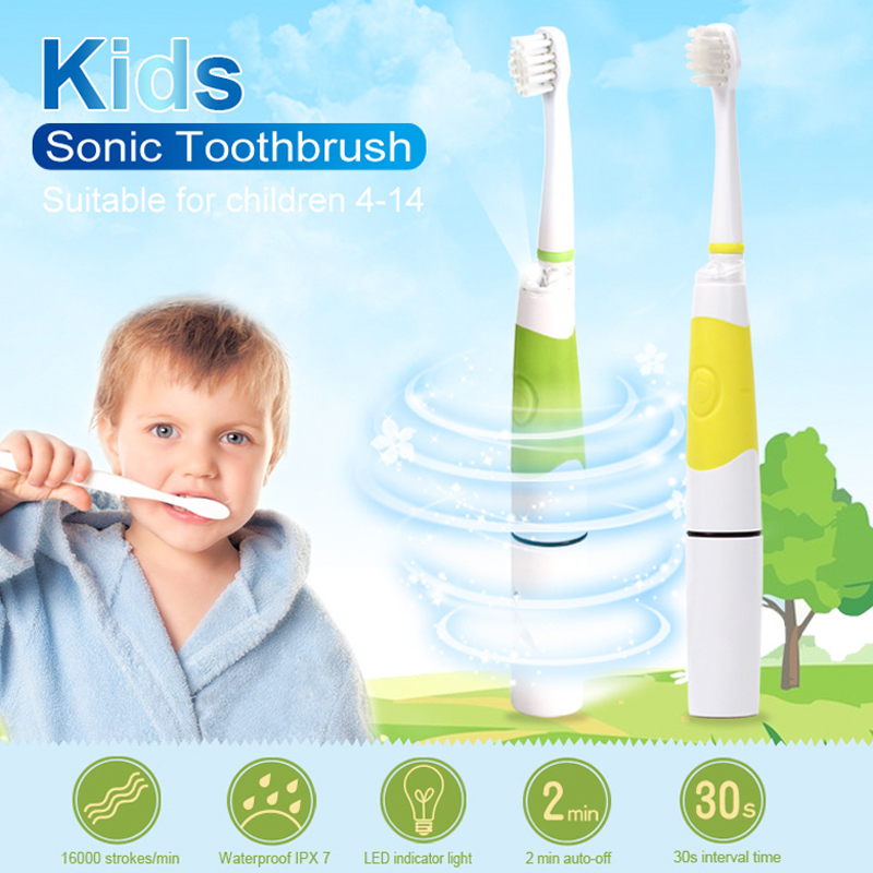 SEAGO Sonic Electric Toothbrush Kids Battery Tooth Brush LED Indicator 3 Replace Tooth Brush Heads ( For Children Age 4+ ) SG618 цены