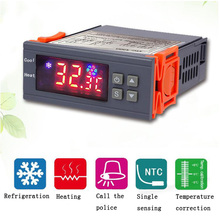Digital temperature controller thermostat temperature regulator for incubator relay LED 10A heating and cooling 12V 24V 220V led digital temperature controller thermostat incubator 220v 10a with heater and cool