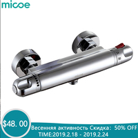 Micoe Thermostatic Shower Faucet Thermostatic Shower Mixer Tap Bathtub Shower Wall lMounted Cold&Hot Faucet H HC502