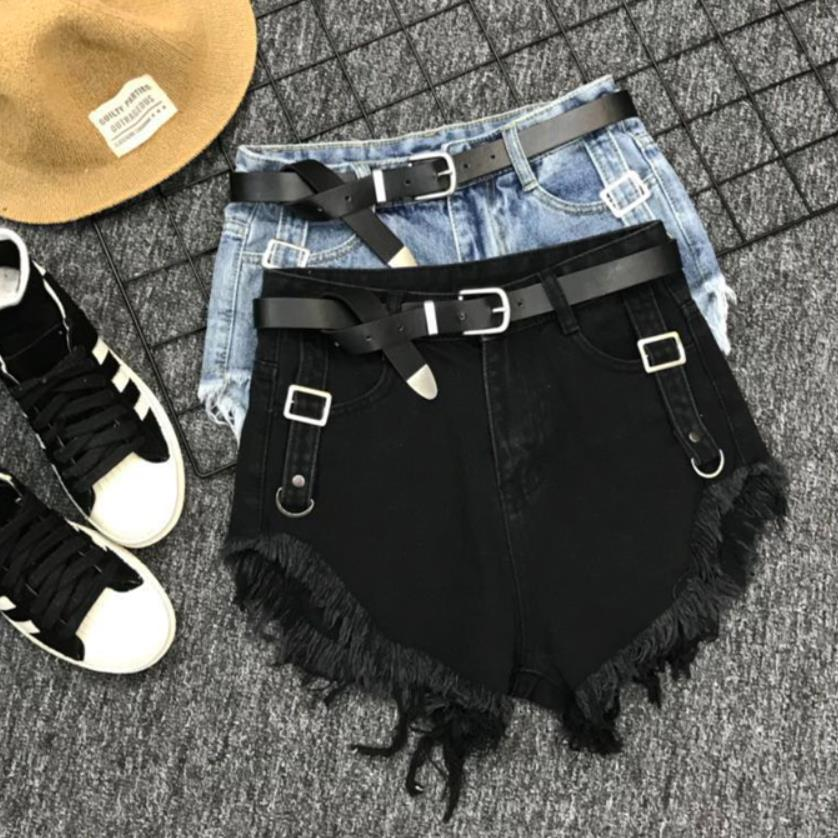 High Waist Jeans Shorts Women 2019 New Summer Spring Hip Hop Bf Style Tassel Denim Shorts