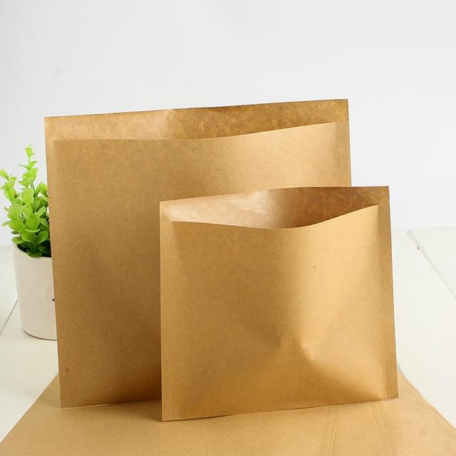 100pcs Lot 16 17cm Greaseproof Baking Kraft Paper Pack Bag Snack Sandwich Biscuit Oil
