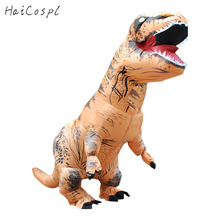 Dinosaur Series Inflatable Costume For Halloween Adults Men Women Animals T REX Cosplay Funny Outfit With Fan Waterproof Materia