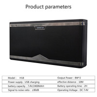 Fashion Bluetooth speakers portable design super bass stereo HD phone call TFcard FM NFC mobile power supply voice tips function