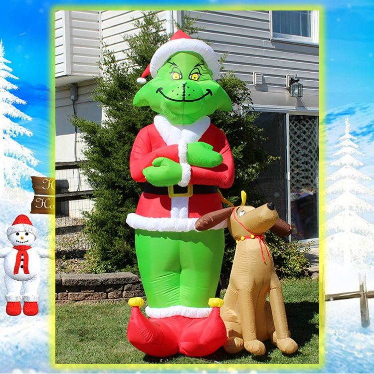 Blow Up Christmas Yard Decorations Part - 17: This House Has It ...