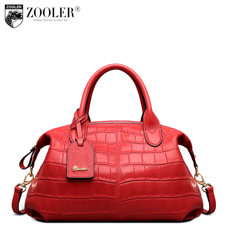 LIMITED !ZOOLER 2017 NEW genuine leather bag luxury designed real leather handbags top handle pattern style bolsa feminina#6913
