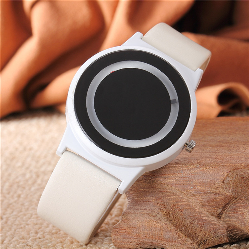 Watches Womens Fashion Mens Watches Top Brand Luxury Leather Band Quartz Vogue Watch Blck/white Sport Casual Simple Style Hot