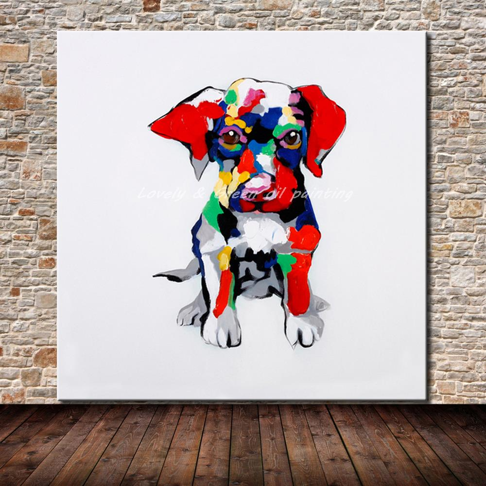 Cartoon Colorful Room: Hand Painted Modern Wall Art Picture Living Room Home
