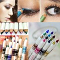 ColorWomen 12 Color  Multifunctional Glitter Lip Eyeliner Eye Shadow Pens Cosmetic  Easy Makeup Tools 160719 Drop Shipping