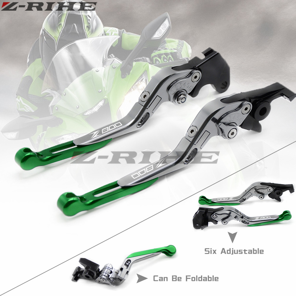 For Kawasaki Z800 Z 800/E version 2013-2016 Motorcycle Accessories Adjustable Folding Extendable Brake Clutch Levers Z800 LOGO cnc motorcycle motorbike folding handle brake clutch levers for kawasaki z800 z 800 e version 2013 2014 2015 2016 2017