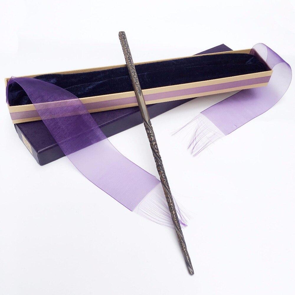 Nuovo Arriva Metallo Nucleo di Ferro Sirius Black Bacchetta di Harry Potter Bacchetta Magica Nastro Elegante Scatola Regalo di Imballaggio