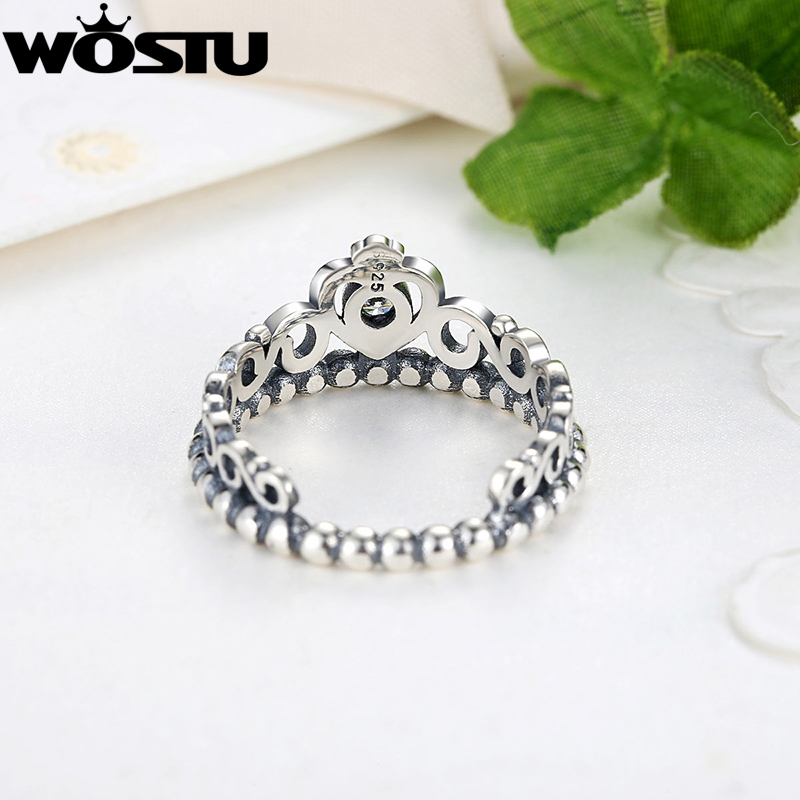 Hot Sale 925 Perak Crown Wedding Rings Dengan Kristal Eropa Otentik - Perhiasan fashion - Foto 4
