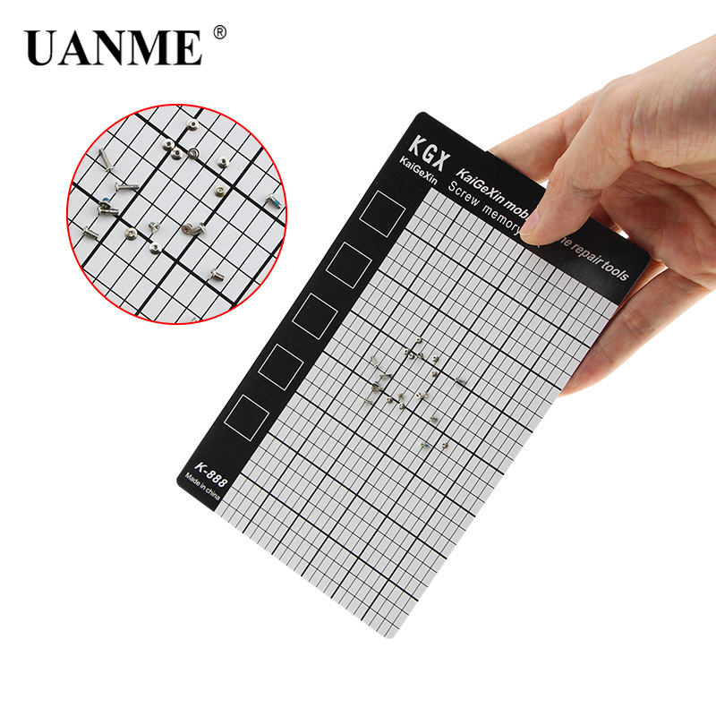 UANME 145 X 90mm 1 Piece Screw Memory Mat Thin Mini Chart Work Pad Mobile Phone Repair Tools