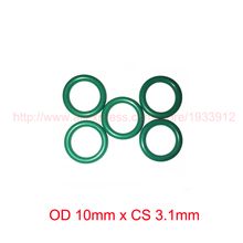 OD 10mm x CS 3.1mm viton fkm rubber seal o ring oring o-ring gasket 2piece size 550mm 542mm 4mm viton o ring seal dichtung green gasket of motorcycle part consumer product o ring