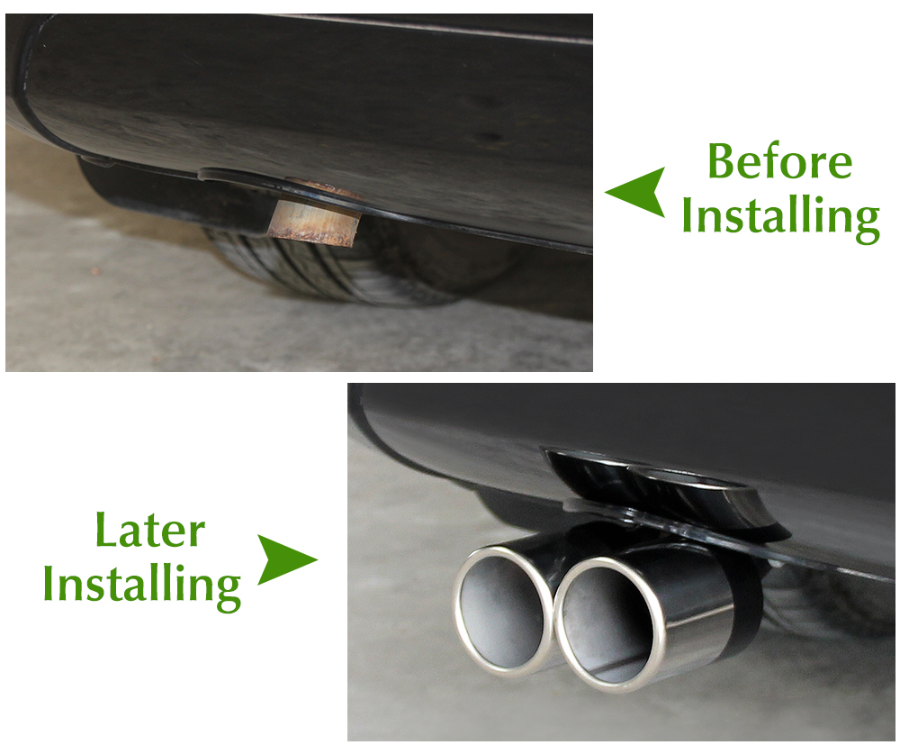 Opel Exhaust Pipe