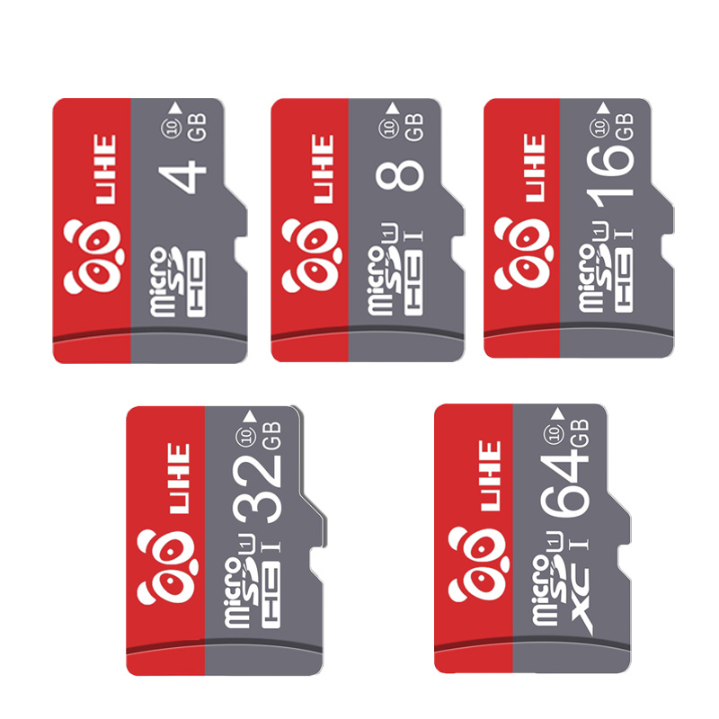 High Speed Micro SD 32GB 64GB Memory Card Class 10 Red TF Carte 4GB 8G 16GB Microsd For Phone Tablet Gift