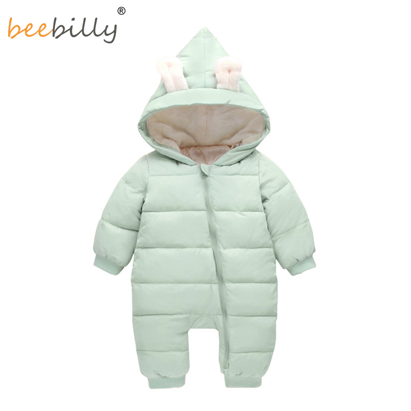Baby Rompers Winter Jackets for Baby Girls Clothing Spring Autumn Coats Rabbit Ear Style Overalls For Baby Boys Newborn Clothes mother nest 3sets lot wholesale autumn toddle girl long sleeve baby clothing one piece boys baby pajamas infant clothes rompers