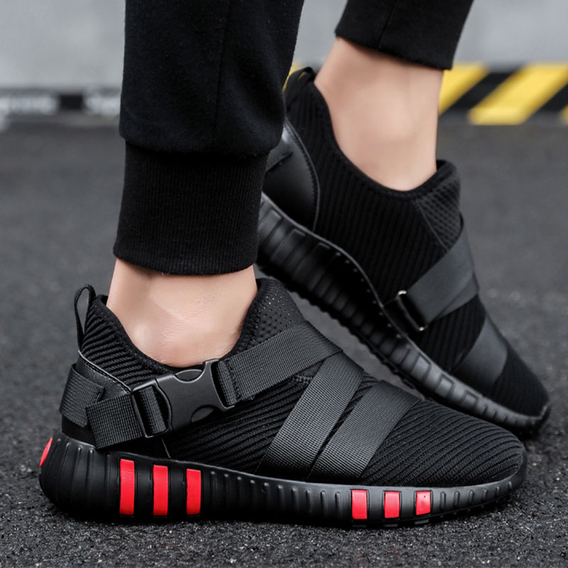 SUROM Breathable Running Shoes For Men Lightweight Mesh Athletic Trainers Outdoor Walking Sneakers zapatillas hombre deportiva