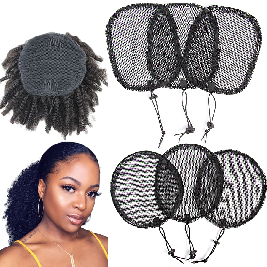 Alileader Good Quality 1Pcs Ponytail Hair Net For Making Ponytail With Adjustable Strap Weaving Wig Caps Poney Tail Wig Maker