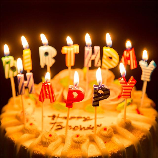 Neue 1 Satz Kinder Party Deko Happy Birthday Brief Ballon Ich Liebe Dich Kerzen Zahnstocher