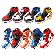 Новый создатель мини нано-блок AJ черный носок пряжки молнии кроссовки баскетбол здания набор спортивная модель игрушечные лошадки совме